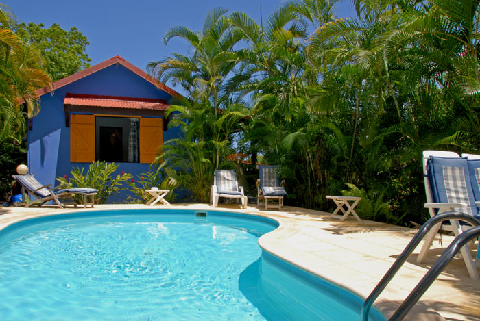 location guadeloupe : piscine